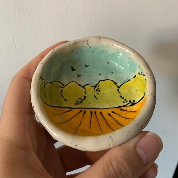 Handmade Pottery Pinch Bowl / Jewelry Bowl